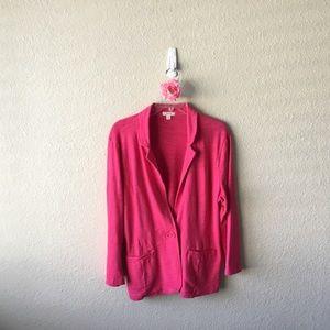 Caslon Slub Knit Cotton Blazer